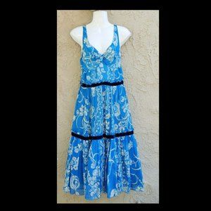 Tracy Reese fit flare silk dress size 10 M L